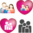 Family icon set — Stock Photo #2244604
