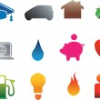 Isolated home flat icons — Stock Photo #2244692