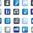 Royalty-Free Stock Photo: Electronic button icons