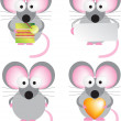Mouse set — Stock Photo
