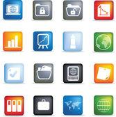 Nastavit tlačítko ikonu office — Stock fotografie