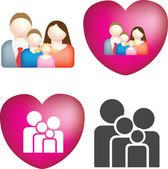 Family icon set — Stock Photo