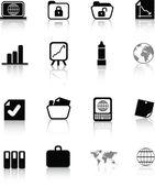 Silhouette office icon — Stock Photo