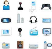 Detailed entertainment icons — Stock Photo