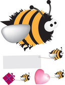 Bee set — Stock Photo