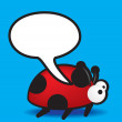 Royalty-Free Stock Photo: Ladybird speech bubble