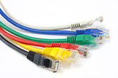 Close up ethernet network cables — Stock Photo