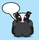 Badger speech bubble — Stock Photo