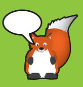 Red fox speech bubble — Stock Photo