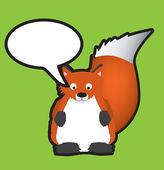 红狐狸语音泡沫 — 图库照片