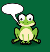 Frog speech bubble — Stock Photo