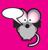 Mouse speech bubble — Stock Photo