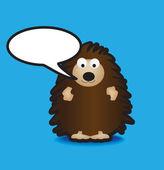Hedgehog speech bubble — Stock Photo