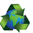 Earth recycle — Stock Photo