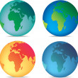 Coloured globes — Stock Photo