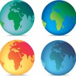 Coloured globes — Stock Photo #2269854
