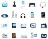 Detailed electronic icons — Stock Photo