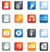 Music icon buttons — Stock Photo