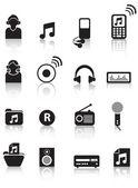 Music silhouettes — Stock Photo