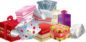 Pile of gifts — Foto de Stock