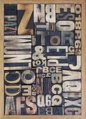 Wooden letterpress blocks — Stock Photo