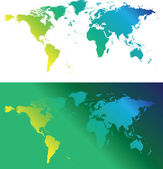 Green maps — Stock Photo