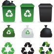 Rubbish icons - Stock Photo