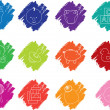 Baby crayon icons — Stock Photo