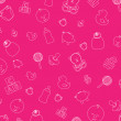 Stock Photo: Pink baby wallpaper