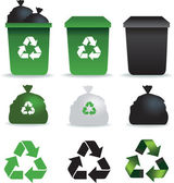 Rubbish icons — Stock Photo