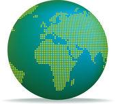 Dotted globe — Stock Photo
