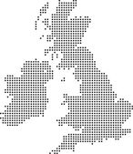 Uk dot map — Stock Photo