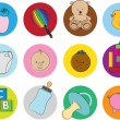 Baby illustration set — Stock Photo
