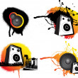 Royalty-Free Stock Photo: Black and ornage urban music
