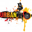Urban dance music — Stock Photo