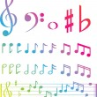 Musical swirl of notes — 图库照片