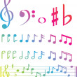 Musical swirl of notes — Stock Photo #2336335