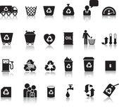 Eco icon set — Stock Photo