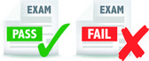 Exam test pass or fail icon — Stock Photo