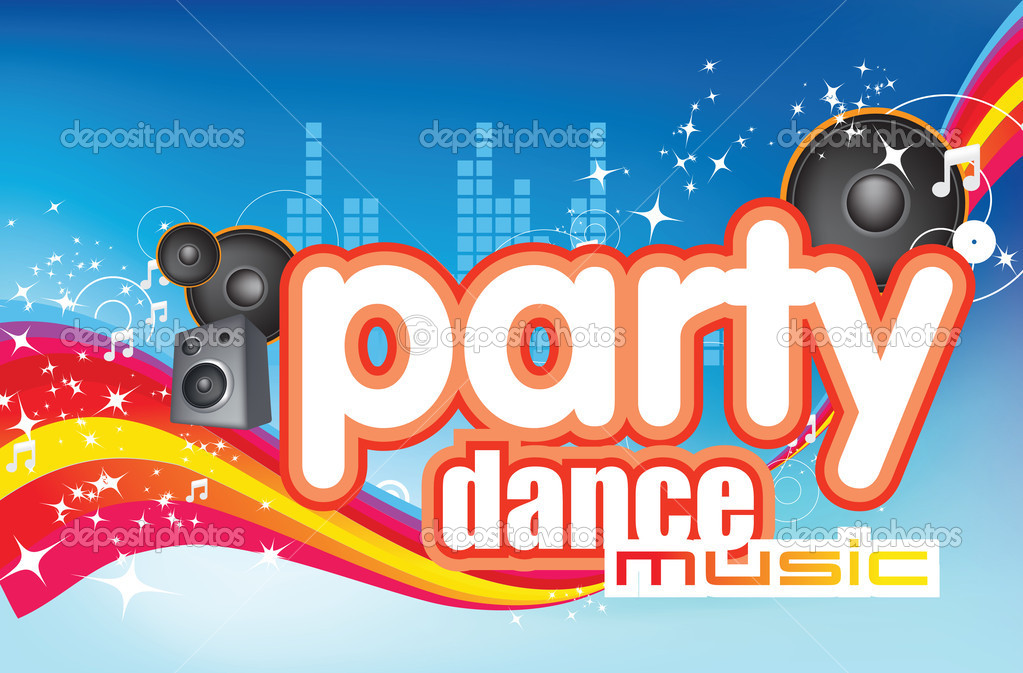 Dance party music modern fun flyer design — Stock fotografie #2335591