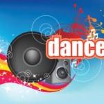 Dance on blue flyer — Stock Photo