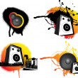 Black and ornage urban music — Stock Photo