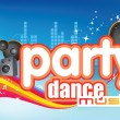 Dance party music — Foto de Stock