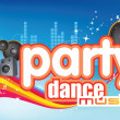 Foto Stock: Dance party music