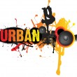 Urban dance music — Foto de Stock