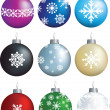 Snowflake decorations — Stock Photo