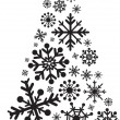 Christmas tree snowflakes — Stock Photo