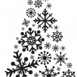 Christmas tree snowflakes - Stock Photo