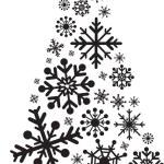 Christmas tree snowflakes — Stock Photo #2365126