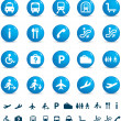 Stock Photo: Travel icon set of buttons